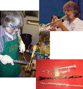 collage of repair and instrument pictures